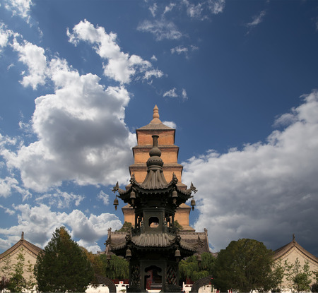sutra: Giant Wild Goose Pagoda (Big Wild Goose Pagoda), is a Buddhist pagoda located in southern Xian (Sian, Xian), Shaanxi province, China