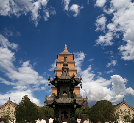 Giant Wild Goose Pagoda (Big Wild Goose Pagoda), is a Buddhist pagoda located in southern Xian (Sian, Xian), Shaanxi province, China photo