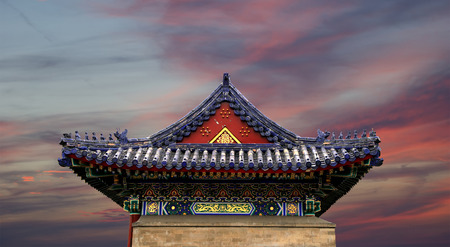 sutra: Traditional decoration of the roof of a Buddhist temple, Xian (Sian), China