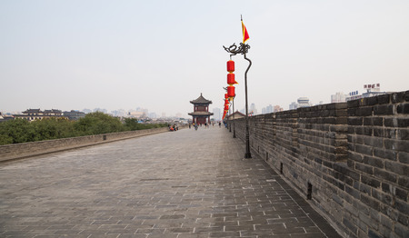 Fortifications of Xian (Sian, Xian) an ancient capital of China-- represent one of the oldest and best preserved Chinese city walls