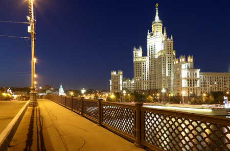 kotelnicheskaya embankment: Kotelnicheskaya Embankment Building, Moscow, Russia-- is one of seven stalinist skyscrapers laid down in September, 1947 and completed in 1952