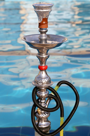 Hookah ‒ also known as a waterpipe, narghile,arghila  or shisha, Jordan, Middle East Imagens