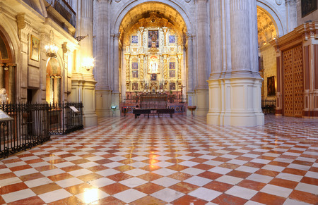 The interior Cathedral of Malaga--is a Renaissance church in the city of Malaga, Andalusia, southern Spain. It was constructed between 1528 and 1782; its interior is also in Renaissance style