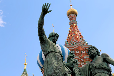 minin: Minin and Pojarsky monument (was erected in 1818), Red Square in Moscow, Russia