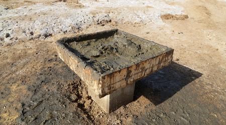 sediments: The medical mud on the shore of the Dead Sea, Jordan