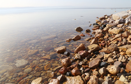 sediments: View over the dead sea -- from the Jordan coastline