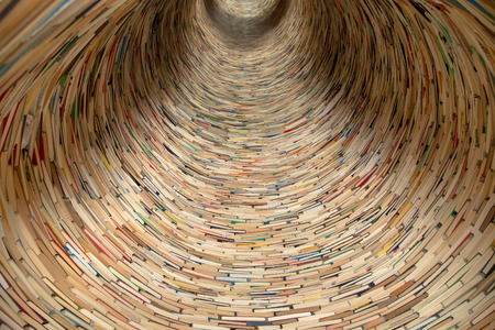 words of wisdom: books tunnel in Prague library