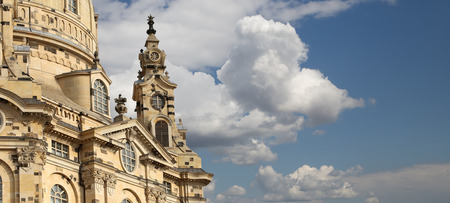 the church of our lady: Dresden Frauenkirche ( literally Church of Our Lady) is a Lutheran church in Dresden, Germany Stock Photo