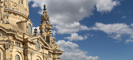 our lady: Dresden Frauenkirche ( literally Church of Our Lady) is a Lutheran church in Dresden, Germany Stock Photo