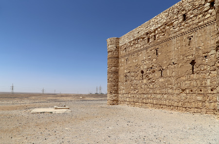 Qasr Kharana (Kharanah or Harrana), the desert castle in eastern Jordan (100 km of Amman). Built in 8th century AD to be used as caravanserai, a resting place for traders