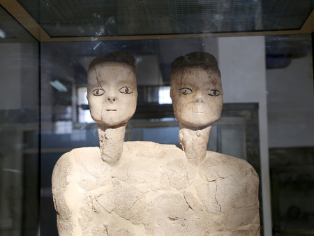 human being: The Ain Ghazal statues are the oldest statues ever made by a human being, made between 6000 and 8000 B.C., Jordan Archaeological Museum (located in the Amman Citadel,  built in 1951)