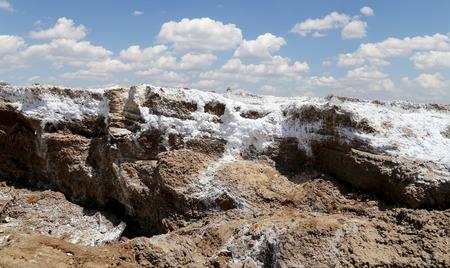 sediments: dead sea salt at Jordan, Middle East