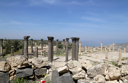 greco roman  roman: Roman Corinthian columns in Umm Qais (Umm Qays) --is a town in northern Jordan near the site of the ancient town of Gadara. Umm Qais is one of Jordans most unique Greco Roman Decapolis sites