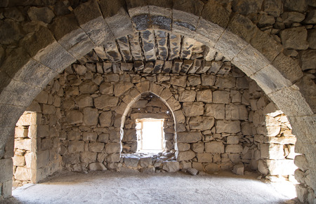 km: Ruins of Azraq Castle,  central-eastern Jordan, 100 km east of Amman Stock Photo
