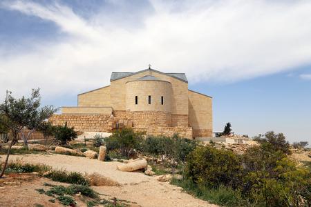 Moses (Moses の記念)、聖堂マウント ネボ、Jordan 写真素材