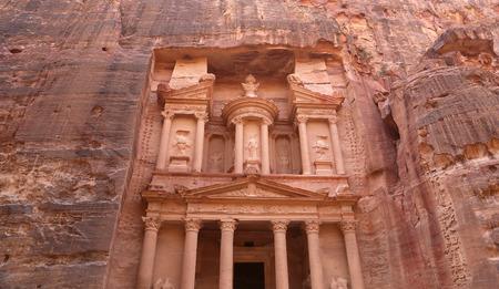 treasury: Al Khazneh or The Treasury at Petra, Jordan