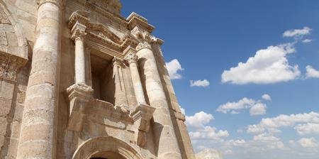 hadrian: Arch of Hadrian in Gerasa (Jerash)-- was built to honor the visit of emperor Hadrian to Jerash in 129130 AD, Jordan Editorial