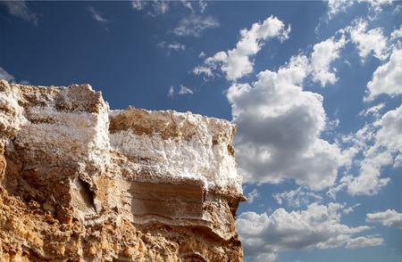 sediments: dead sea salt at Jordan, Middle East