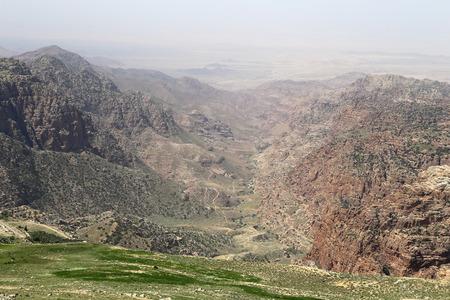 Desertico paesaggio di montagna, Giordania, Medio Oriente Archivio Fotografico - 38626751