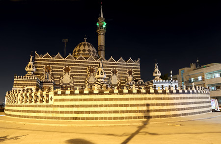 circassian: Abu Darweesh Mosque Amman (at night), Jordan. Was built in 1961 by the Circassian community which came to settle in Amman