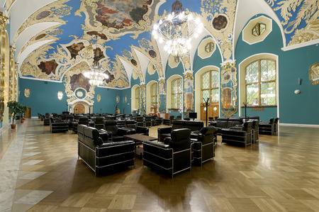 kazansky: VIP-hall or a room higher comfort Kazansky railway terminal ( Kazansky vokzal) also known as Moscow Kazanskaya railway station is one of nine railway terminals in Moscow, Russia. Construction of the modern building according to the design by architect Ale Editorial