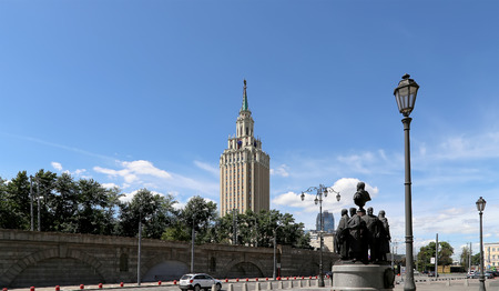kazansky: Monument to the founders of Russian Railways at the Kazansky railway terminal (Author Salavat Shcherbakov), Moscow, Russia.