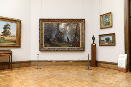 depository: The State Tretyakov Gallery is an art gallery in Moscow, Russia, the foremost depository of Russian fine art in the world. Gallerys history starts in 1856. Hall of artist V.Vasnetsov. Collection - 130,000 exhibits Editorial