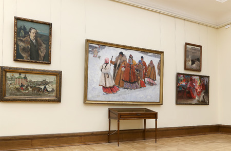 empress: The State Tretyakov Gallery is an art gallery in Moscow, Russia, the foremost depository of Russian fine art in the world. Gallerys history starts in 1856. Hall of artist V.Vasnetsov. Collection - 130,000 exhibits Editorial