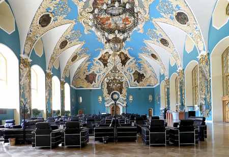 kazansky: VIP-hall or a room higher comfort Kazansky railway station ( Kazansky vokzal) -- is one of nine railway terminals in Moscow, Russia. Construction of the modern building according to the design by architect Alexey Shchusev started in 1913 and ended in 1940 Editorial