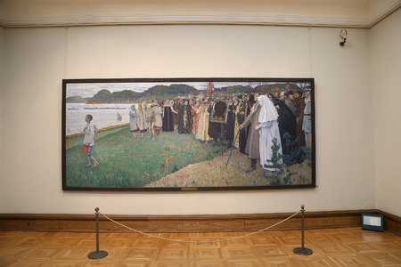 foremost: The State Tretyakov Gallery is an art gallery in Moscow, Russia, the foremost depository of Russian fine art in the world. Gallerys history starts in 1856. Hall of artist V.Vasnetsov. Collection - 130,000 exhibits Editorial