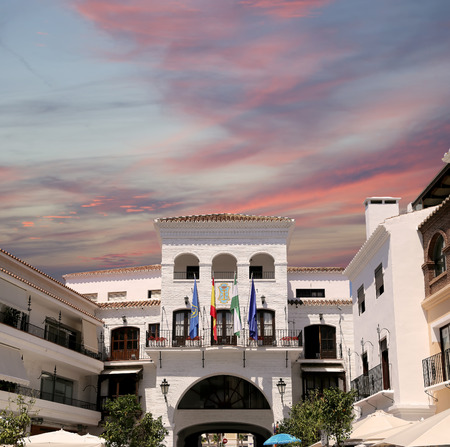 nerja: Buildings in Nerja, Andalusia, Spain. It is on the country southern Mediterranean coast, about 50 km east of Malaga