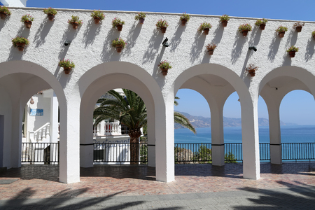 balcon: Balcon de Europa in Nerja, Andalusia, Spain. It is on the country southern Mediterranean coast, about 50 km east of Malaga.