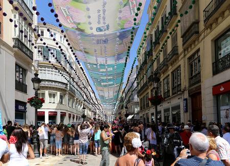 urban street: Larios street, the main street of Malaga, Andalusia, Spain Editorial