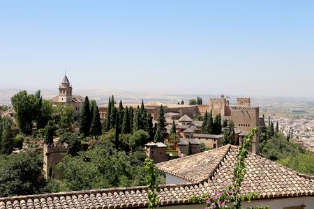moorish: Alhambra Palace - medieval moorish castle in Granada, Andalusia, Spain
