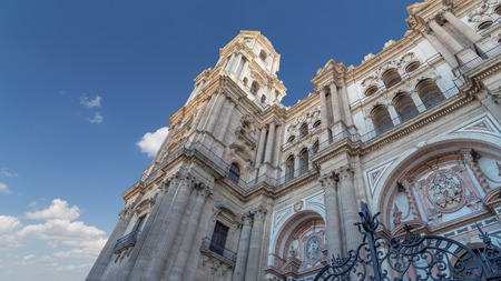Cathedral of Malaga-- is a Renaissance church in the city of Malaga, Andalusia, southern Spain. It was constructed between 1528 and 1782; its interior is also in Renaissance style Stock Photo