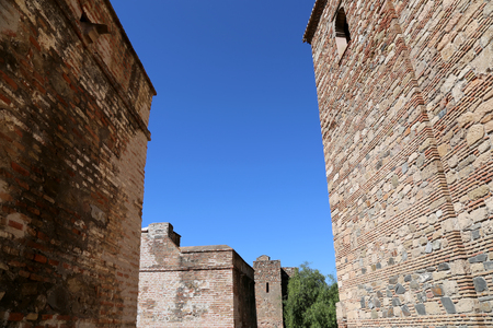 alcazaba: Alcazaba castle on Gibralfaro mountain. Malaga, Andalusia, Spain