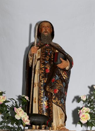 frigiliana: Traditional Catholic sculpture in the 17th century church Iglesia de San Antonio de Padua in Frigiliana-- is one of beautiful white towns in the province of Malaga, Andalusia, Spain