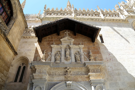 Granada Cathedral (Cathedral of the Incarnation) in gothic and spanish renaissance style, Andalucia, Spain Stock Photo