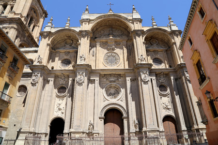 incarnation: Granada Cathedral (Cathedral of the Incarnation) in gothic and spanish renaissance style, Andalucia, Spain Stock Photo
