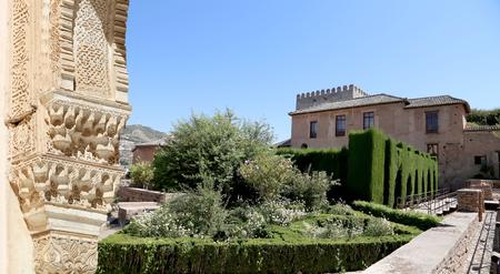 moorish: Arches in Islamic (Moorish)  style and  Alhambra, Granada, Spain Editorial