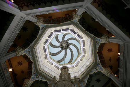 devotional: Moscow Cathedral Mosque (interior), Russia -- the main mosque in Moscow, new landmark