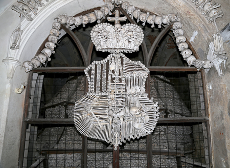 catacomb: Sedlec Ossuary is a small Roman Catholic chapel, located beneath the Cemetery Church of All Saints in Sedlec, a suburb of Kutna Hora in the Czech Republic.The ossuary is among the most visited tourist attractions of the Czech Republic