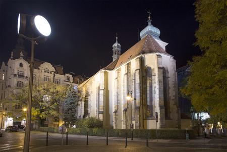 jewish quarter: Jewish Quarter of Prague (Night view) , Czech Republic