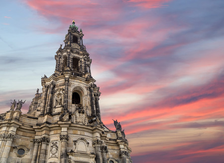 holy trinity: Hofkirche or Cathedral of Holy Trinity - baroque church in Dresden, Sachsen, Germany