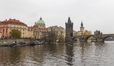 Charles Bridge (day) in Prague, Czech Republic Reklamní fotografie