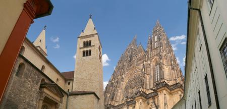 vitus: St. Vitus Cathedral (Roman Catholic cathedral ) in Prague Castle, Czech Republic
