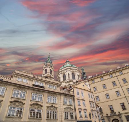 nikolaus: church of Saint Nicholas in Prague, Czech Republic