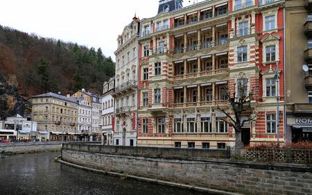 karlovy: Karlovy Vary (Carlsbad) -- famous spa city in western Bohemia, very popular tourist destination in Czech Republic Editorial