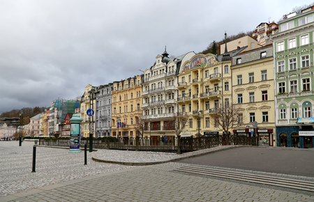 karlovy vary: Karlovy Vary (Carlsbad) -- famous spa city in western Bohemia, very popular tourist destination in Czech Republic Editorial