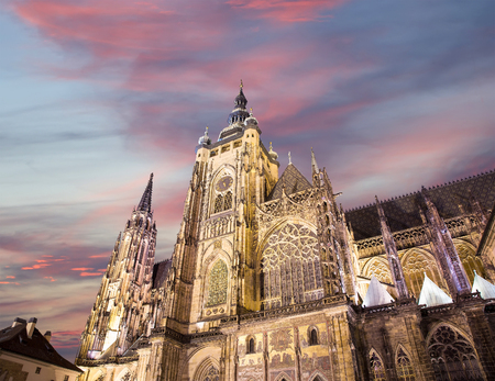 unesco in czech republic: St. Vitus Cathedral (Roman Catholic cathedral ) in Prague Castle, Czech Republic